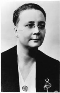 Dorothy L. Sayers wearing pince-nez